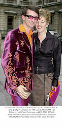 COUNT & COUNTESS MANFREDIE DELLA GHERARDESCA, at a party in London on 18th June 2001.	OPM 135