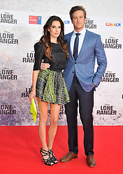 The Lone Ranger Berlin film premiere.<br /> Armin Hammer with Elizabeth Chambers attends premiere of latest adaptation of well-known Spaghetti Western. <br /> Berlin, Germany<br /> Friday 19 July 2013<br /> Picture by Schneider-Press / John Farr / i-Images<br /> UK & USA ONLY