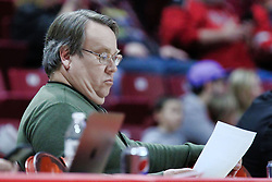 NORMAL, IL - January 06: Randy Reinhardt during a college women's basketball game between the ISU Redbirds and the Drake Bulldogs on January 06 2019 at Redbird Arena in Normal, IL. (Photo by Alan Look)