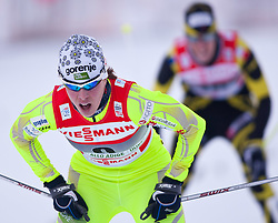 05.01.2011, Nordic Arena, Toblach, ITA, FIS Cross Country, Tour de Ski, Qualifikation Sprint Women and Men, im Bild Petra Majdic (SLO, #4) win the semifinal. EXPA Pictures © 2011, PhotoCredit: EXPA/ J. Groder