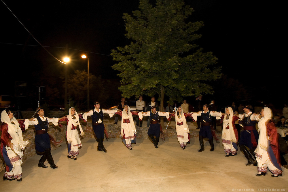 Traditional dance preformance during an event