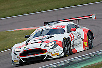 Phil Dryburgh (GBR) / Ross Wylie (GBR)  #8 Motorbase Performance  Aston Martin V12 Vantage GT3  Aston Martin 6.0L V12 British GT Championship at Rockingham, Corby, Northamptonshire, United Kingdom. April 30 2016. World Copyright Peter Taylor/PSP.