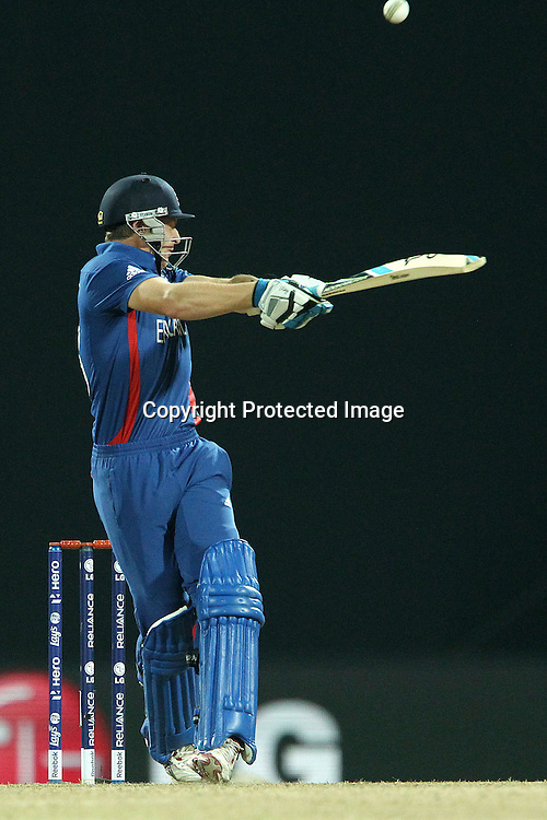 Jos Buttler of England edges the ball and is caught during the ICC World Twenty20 Super Eights match between England and Sri Lanka held at the  Pallekele Stadium in Kandy, Sri Lanka on the 1st October 2012<br /> <br /> Photo by Ron Gaunt/SPORTZPICS