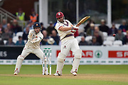 James Hildreth of Somerset hits the ball to the boundary for four runs during the Specsavers County Champ Div 1 match between Somerset County Cricket Club and Essex County Cricket Club at the Cooper Associates County Ground, Taunton, United Kingdom on 23 September 2019.