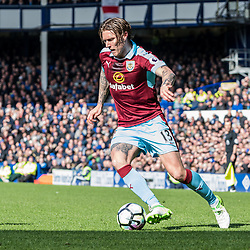 Burnley midfielder Jeff Hendrick (13) on the ball in the Premier League match between Everton and Burnley<br /> (c) John Baguley | SportPix.org.uk