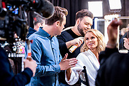 *** MANDATORY BYLINE TO READ: Syco / Thames / Dymond ***<br />Behind the scenes production photos of the 2017 Britain's Got Talent TV show. The new show starts on ITV this Saturday April 15th.<br /><br />Pictured: Stephen Mulhern and Amanda Holden<br />Ref: SPL1477410  090217  <br />Picture by: Syco / Thames / Dymond