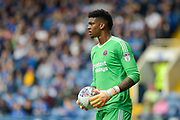 Sheffield United goalkeeper Jamal Blackman (27) during the EFL Sky Bet Championship match between Sheffield Wednesday and Sheffield Utd at Hillsborough, Sheffield, England on 24 September 2017. Photo by Adam Rivers.