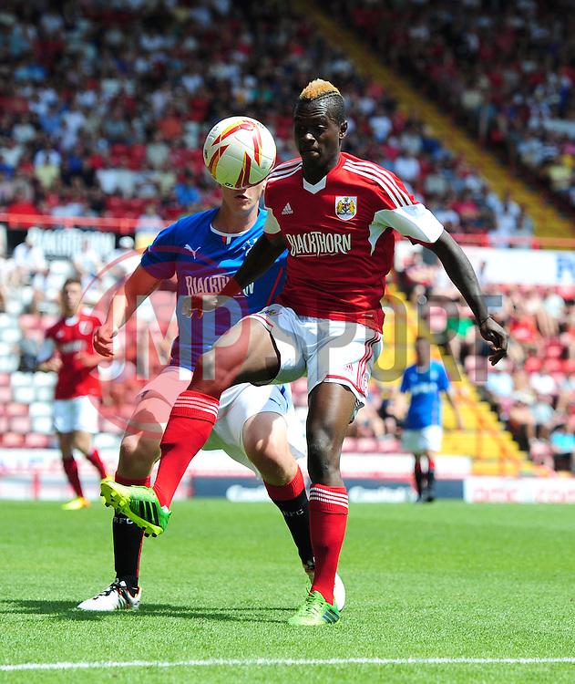 Bristol City's Toby Ajala - Photo mandatory by-line: Joe Meredith/JMP - Tel: Mobile: 07966 386802 13/07/2013 - SPORT - FOOTBALL - Bristol -  Bristol City v Glasgow Rangers - Pre Season Friendly - Bristol - Ashton Gate Stadium