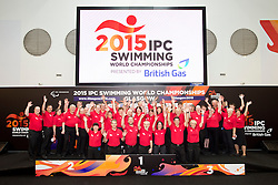 Officials in their blacks  at 2015 IPC Swimming World Championships -