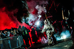 05.12.2017, Kaprun, AUT, Pinzgauer Krampustage im Bild Mitglieder verschiedener Krampusgruppen beim Krampusumzug // Men dressed as a devil performs during a Krampus show. Krampus is a mythical creature that, according to legend, accompanies Saint Nicholas during the festive season. Instead of giving gifts to good children, he punishes the bad ones, Kaprun, Austria on 2017/12/05. EXPA Pictures © 2017, PhotoCredit: EXPA/ JFK