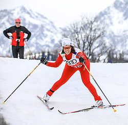 17.03.2017, Ramsau am Dachstein, AUT, Special Olympics 2017, Wintergames, Langlauf, Divisioning 5 km Classic, im Bild Claudia Schmidt (SUI) // during the Cross Country Divisioning 5 km Classic at the Special Olympics World Winter Games Austria 2017 in Ramsau am Dachstein, Austria on 2017/03/17. EXPA Pictures © 2017, PhotoCredit: EXPA / Martin Huber