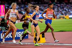 10-08-2017 IAAF World Championships Athletics day 7, London<br /> Sifan Hassan NED loopt vrij gemakkelijk naar de tweede plaats in haar heat en plaatst zich voor de finale op de 5000 meter.