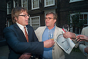 GILES WOOD; IVO DAWNAY, Elliott and Thompson host a book launch of How the Queen can Make you Happy by Mary Killen.- Book launch. The O' Shea Gallery. St. James's St. London. 20 June 2012.