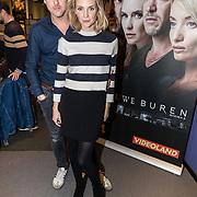 NLD/Hilversum/20161115 Castpresentatie RTL serie Nieuwe Buren 2, Daan Schuurmans en partner Bracha van Doesburg