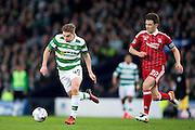 Celtic midfielder James Forrest (#49) takes on Aberdeen midfielder Ryan Jack (#22) during the Scottish Cup final match between Aberdeen and Celtic at Hampden Park, Glasgow, United Kingdom on 27 November 2016. Photo by Craig Doyle.