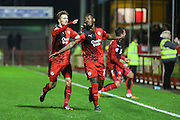 Roarie Deacon of Crawley Town celebrates his goal during the Sky Bet League 2 match between Crawley Town and Stevenage at the Checkatrade.com Stadium, Crawley, England on 26 December 2015. Photo by Phil Duncan.