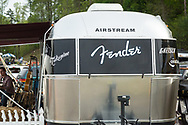 Fender Musical Instruments Airstream Recording Studio were greeting customers and installing instrument strings and making instrument repairs during MerleFest 2013.