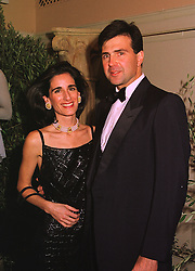 PRINCE & PRINCESS KARL VON AUERSPERG-BREUNNER, at a ball in London on 8th November 1998.MLP 25