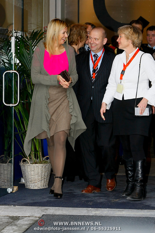 NLD/Den Haag/20110118 - Prinses Maxima bezoekt Spots on Jobs in  Den Haag