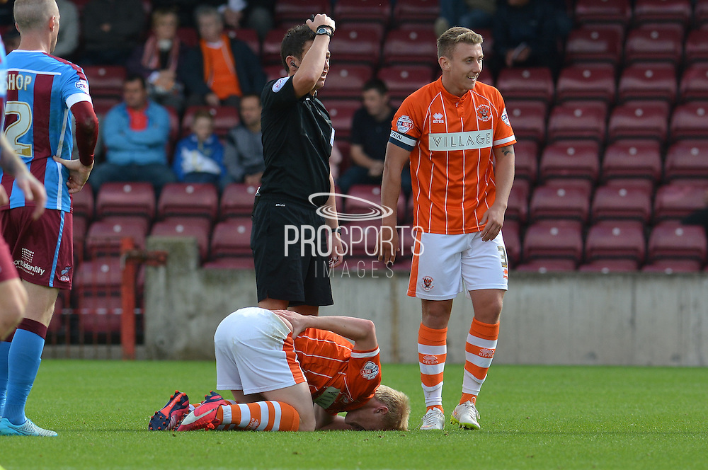 Mark Cullen  during the Sky Bet League 1 match between Scunthorpe United and Blackpool at Glanford Park, Scunthorpe, England on 5 September 2015. Photo by Ian Lyall.