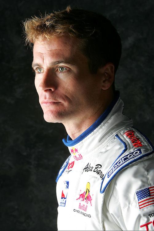 Alex Barron, Red Bull photo shoot, Homestead Miami Speedway, Homestead, FL USA 1/22/2005