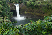 Rainbow Falls near Hilo, Hawaii.