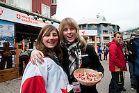 Delicious swiss chocolate from Lindt is offered at the House of Switzerland during the 2010 Olympic Winter Games in Whistler, BC Canada.