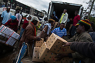 Boxes of packed Khat are loaded on to a truck headin to the airport in Eastleigh, a Somali neighborhood in Nairobi.