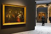 L'Ultimo Caravaggio, eredi e nuovi maestri (Last Caravaggio, Heirs and new Masters) exhibition at Gallerie d'Italia, Intesa Sanpaolo Museum, in Milan on November 30, 2017. In the picture the main paint is Martirio di Sant'Orsola, oil on canvas, by Michelangelo Merisi, Caravaggio. © Carlo Cerchioli