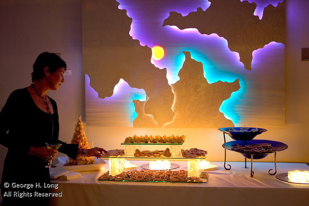 Cookies and martinis at the Venusian Gardens party