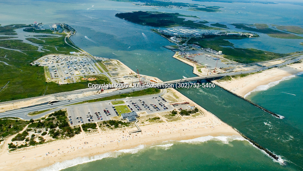 Aerial views of the Indian River Inlet Original Bridge