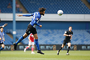 Michael Hector of Sheffield Wednesday heads the ball away during the EFL Sky Bet Championship match between Sheffield Wednesday and Bristol City at Hillsborough, Sheffield, England on 22 April 2019.