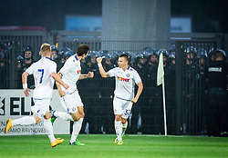 Fran Tudor of Hajduk celebrate after Hajduk scored 2nd goal during First Leg football match between FC Luka Koper and HNK Hajduk Split (CRO) in Second qualifying round of UEFA Europa League, on July 16, 2015 in Stadium Bonifika, Koper, Slovenia. Photo by Vid Ponikvar / Sportida