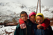 Young boys at berber village near Tizi N'Tichka
