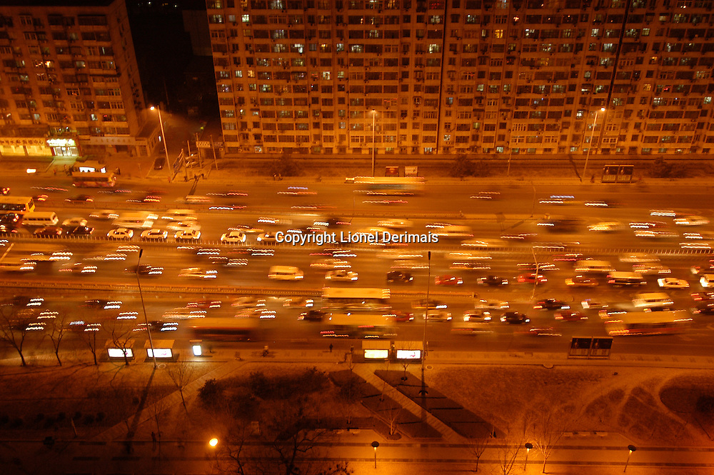 Beijing Second West ring road at rush hour.