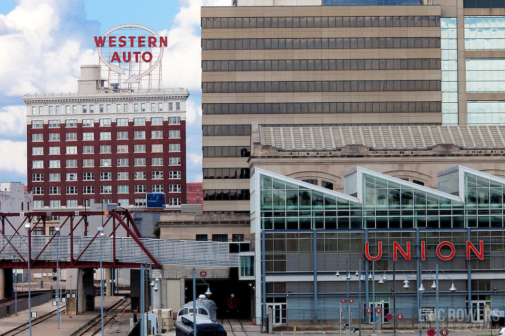 Downtown Kansas City's Western Auto building.