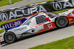 May 6, 2018 - Lexington, Ohio, United States of America - The CORE autosport Composite Resources ORECA LMP2 car races through the turns during the the Acura Sports Car Challenge at Mid Ohio Sports Car Course in Lexington, Ohio. (Credit Image: © Walter G Arce Sr Asp Inc/ASP via ZUMA Wire)