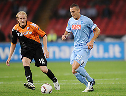 16.09.2010, Stadio San Paolo, Neapel, ITA, UEFA EL, Napoli vs Ultrecht, im Bild Yebda ( Napoli ) con Demouge ( Ultrecht ).EXPA Pictures © 2010, PhotoCredit: EXPA/ InsideFoto +++++ ATTENTION - FOR AUSTRIA AND SLOVENIA CLIENT ONLY +++++.. / SPORTIDA PHOTO AGENCY