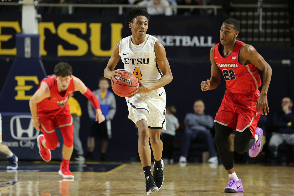 February 1, 2018 - Johnson City, Tennessee - Freedom Hall: ETSU guard Jason Williams (4)<br /> <br /> Image Credit: Dakota Hamilton/ETSU