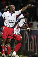 FOOTBALL - CHAMPIONS LEAGUE 2004/2005 - 1/8 FINAL - 2ND LEG - OLYMPIQUE LYONNAIS v WERDER BREMEN - 08/03/2005 - JOY SYLVAIN WILTORD (LYON) AFTER HIS 3RD GOAL-PHOTO GUY JEFFROY /Digitalsport