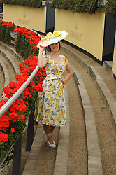 Race goer at the 1st day of the 2008 Royal Ascot racing festival on 17th June 2008.<br /><br />NON EXCLUSIVE - WORLD RIGHTS