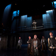 March 24, 2016 - New York, NY : A scene from a photo call/dress rehearsal for The Royal Shakespeare Company's (RSC) Richard II at the Brooklyn Academy of Music's (BAM) Harvey Theater in Brooklyn on Thursday afternoon. David Tennant, in crown at top center, performs as Richard II. At bottom center with cross on armor, Jasper Britton performs as Bolingbroke. The production, which is being directed by RSC Artistic Director Gregory Doran as part of Shakespeare's Great Cycle of Kings, marks the 400th anniversary of William Shakespeare's death.  CREDIT: Karsten Moran for The New York Times