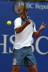 MONTE-CARLO, MONACO - Sunday, April 20, 2003: Juan Carlos Ferrero (Spain) with the Tennis Masters Monte-Carlo trophy after beating Guillermo Coria (Argentina) 6-2, 6-2 in the final of the Tennis Masters Monte-Carlo. (Pic by David Rawcliffe/Propaganda)
