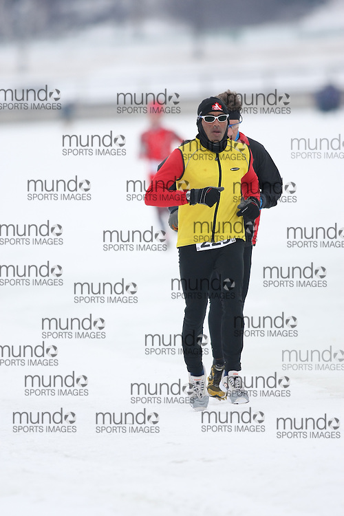 Ottawa, Canada ---07/02/09---DEV PAUL of OTTAWA finished in 1 overall  2009 WinterludeTriathlon. It is a speed skate, cross country ski, run version of the triathlon. Photo copyright Sean Burges/Mundo Sport Images, 2009.