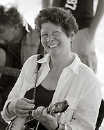Terri McMurray plays at the Pickin Tent during the 2009 Merlefest in Wilkesboro NC