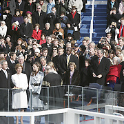 President Bush is sworn-in by Chief Justice of the Supreme Court William Rehnquist Jan. 20, 2005, at the US Capitol in Washington, DC.  ..Photo by Khue Bui..