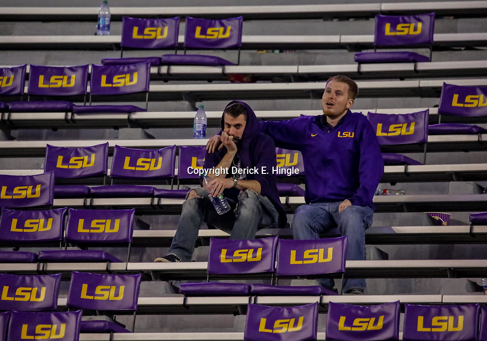 Nov 3, 2018; Baton Rouge, LA, USA; LSU Tigers fans sit in the stands following a loss against the Alabama Crimson Tide at Tiger Stadium. Mandatory Credit: Derick E. Hingle-USA TODAY Sports