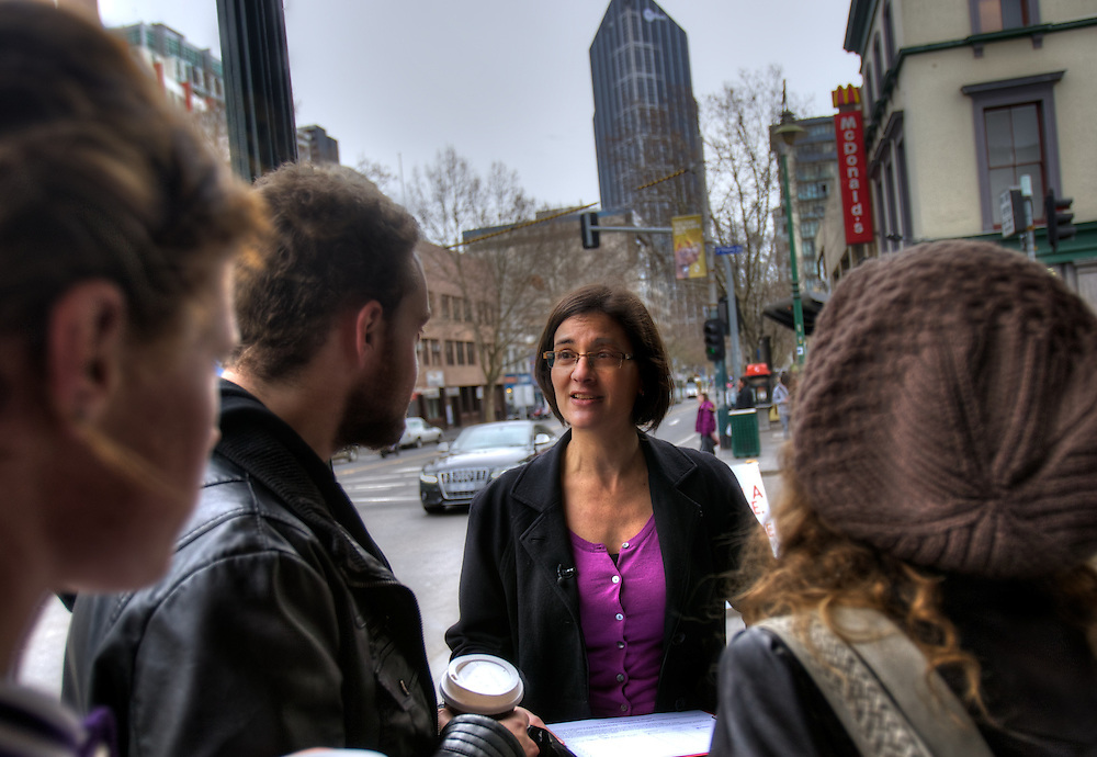 Melbourne by election, Labor candidate Jennifer Kanis campaigning at Victoria Market. Pic By Craig Sillitoe CSZ / The Sunday Age.12/07/2012  Pic By Craig Sillitoe CSZ / The Sunday Age melbourne photographers, commercial photographers, industrial photographers, corporate photographer, architectural photographers, This photograph can be used for non commercial uses with attribution. Credit: Craig Sillitoe Photography / http://www.csillitoe.com<br /> <br /> It is protected under the Creative Commons Attribution-NonCommercial-ShareAlike 4.0 International License. To view a copy of this license, visit http://creativecommons.org/licenses/by-nc-sa/4.0/.