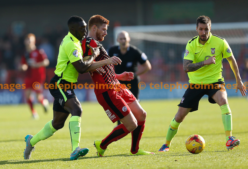 Crawley&rsquo;s Matt Harrold in action during the Sky Bet League 2 match between Crawley Town and York City at the Checkatrade.com Stadium in Crawley. October 31, 2015.<br /> James Boardman / Telephoto Images<br /> +44 7967 642437