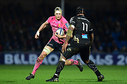 Jonny Hill of Exeter Chiefs goes on a run - Mandatory by-line: Alex Davidson/JMP - 13/01/2018 - RUGBY - Sandy Park Stadium - Exeter, England - Exeter Chiefs v Montpellier - European Rugby Champions Cup